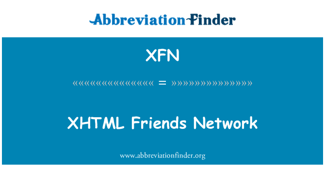 XFN: XHTML Friends Network