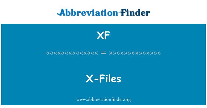 XF: X-Files