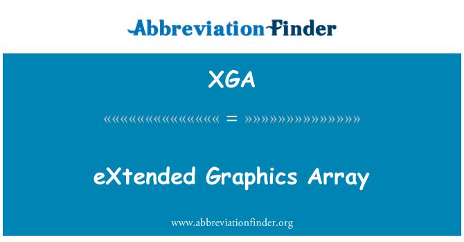 XGA: eXtended Graphics Array