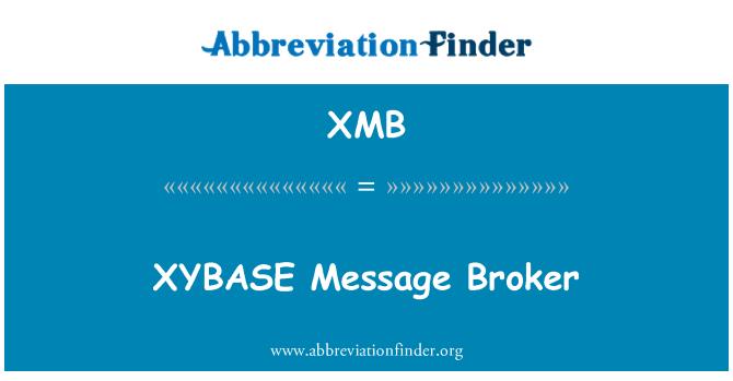 XMB: XYBASE Message Broker