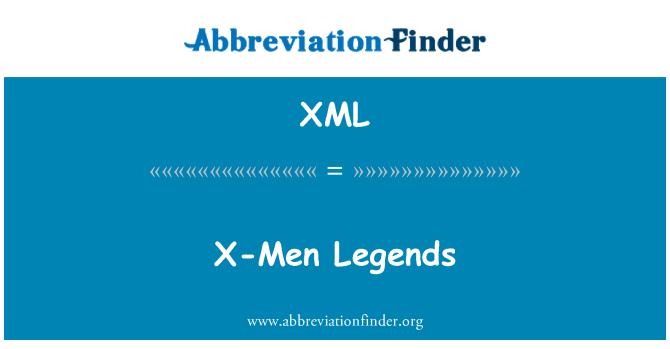 XML: X-مرد کنودنتیوں