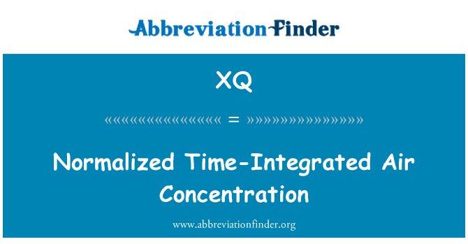 XQ: Normalized Time-Integrated Air Concentration