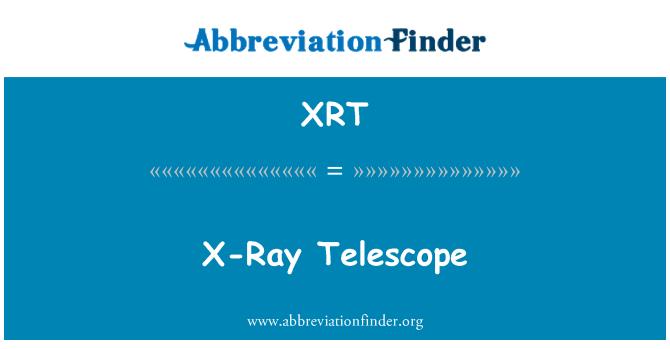 XRT: X 射線望遠鏡
