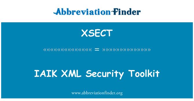 XSECT: IAIK XML Security Toolkit