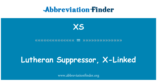 XS: Lutheran Suppressor, X-Linked