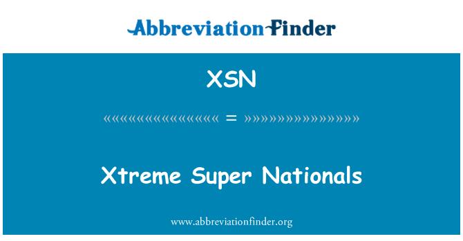 XSN: Xtreme Super Nationals