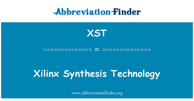 XST: Xilinx sentezi teknolojisi