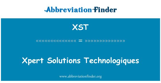 XST: Xpert çözümler Technologiques