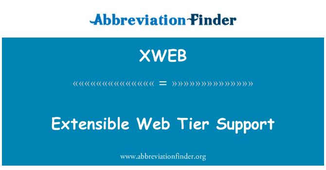 XWEB: Soporte de nivel de Web extensible