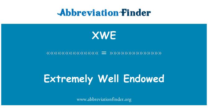 XWE: Son derece iyi donatılmış