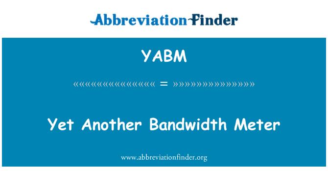 YABM: Yet Another Bandwidth Meter
