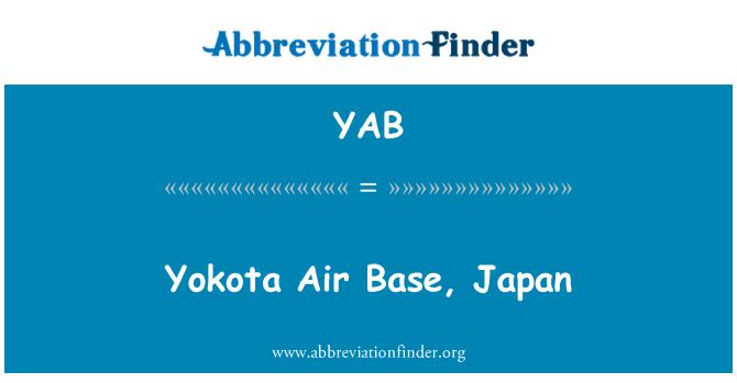 YAB: Yokota Air Base, Japan