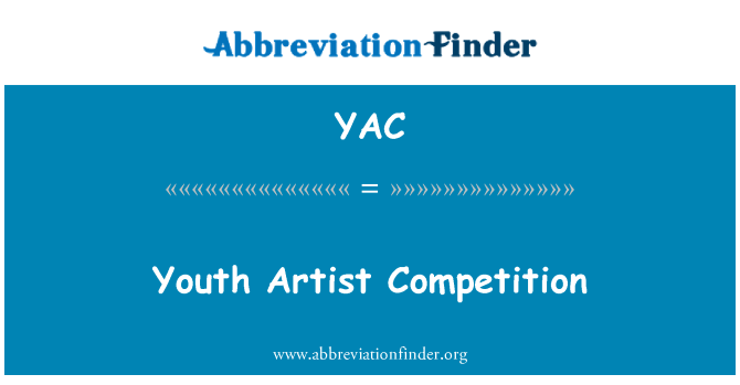 YAC: Youth Artist Competition