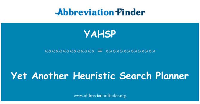 YAHSP: Yet Another Heuristic Search Planner