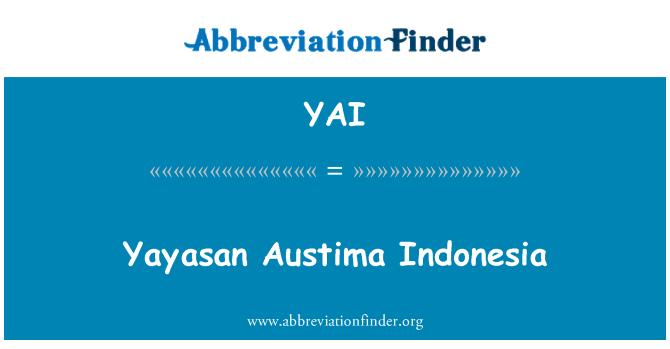 YAI: Yayasan Austima 印度尼西亚