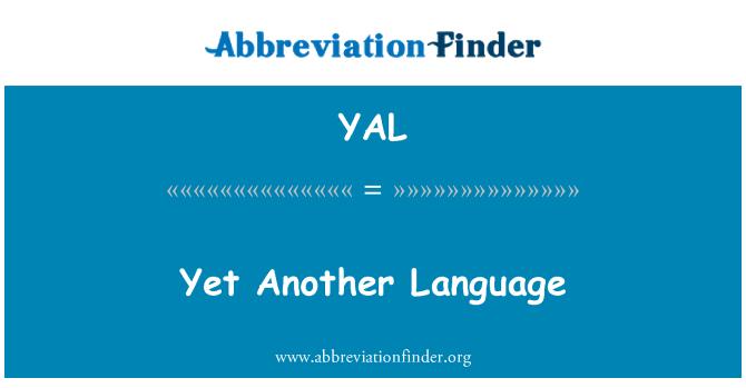 YAL: 然而另一种语言