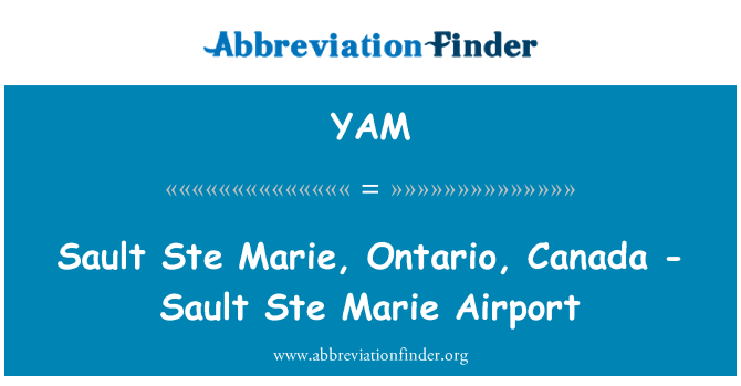YAM: Ste 熏衣玛丽,安大略省,加拿大-瀑布 Ste 玛丽机场