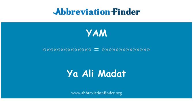 YAM: Ya Ali Madat
