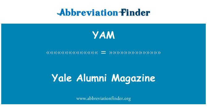 YAM: Yale Alumni Magazine