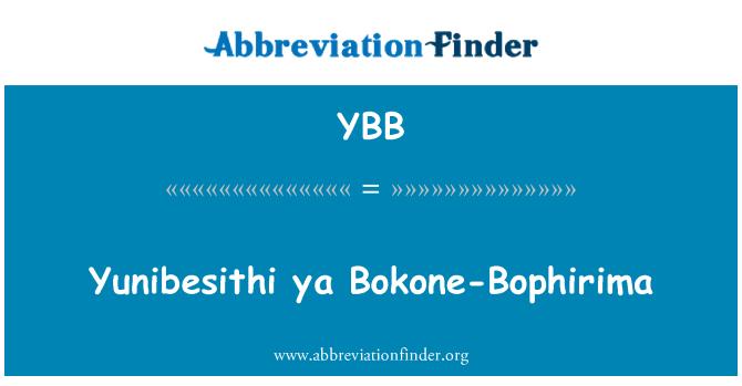 YBB: Yunibesithi 雅 Bokone Bophirima