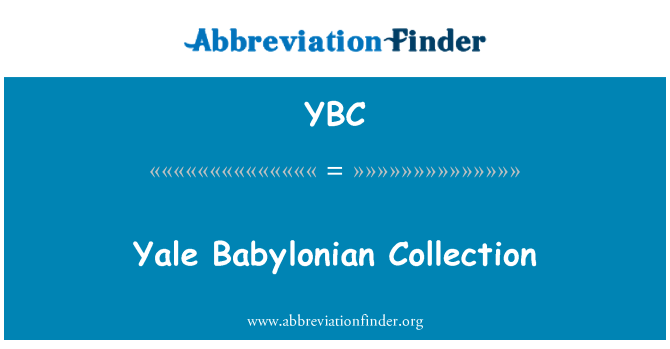 YBC: Yale Babylonian Collection