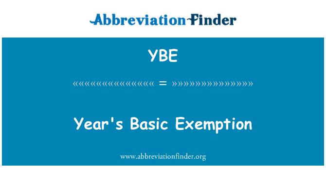 YBE: Βασικές απαλλαγή του έτους