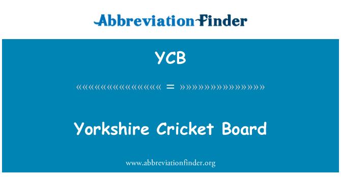 YCB: Jorkšyro Kriketas Taryba