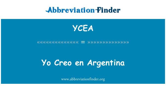 YCEA: Yo Creo en Argentina