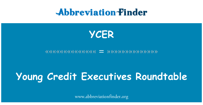 YCER: Young Credit Executives Roundtable