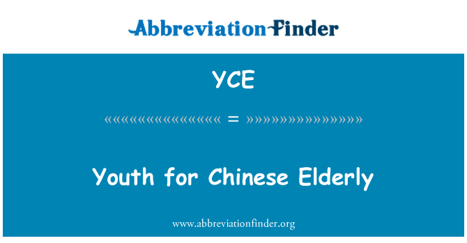 YCE: Youth for Chinese Elderly