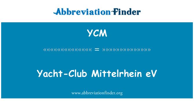 YCM: Yacht-Club Mittelrhein eV