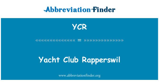YCR: 游艇俱乐部 Rapperswil