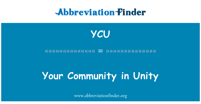 YCU: Your Community in Unity
