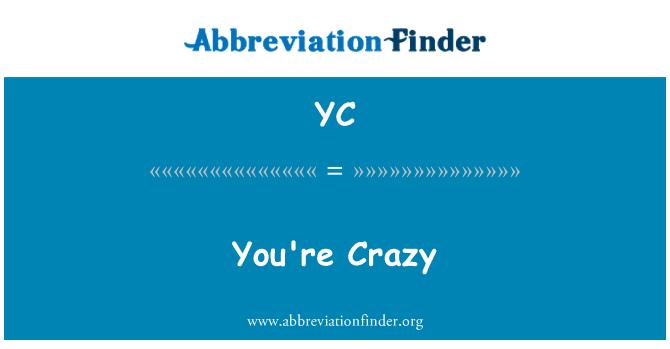 YC: 你疯了