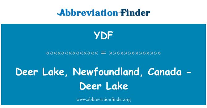 YDF: 鹿湖,加拿大纽芬兰-鹿湖