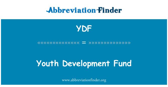 YDF: Youth Development Fund