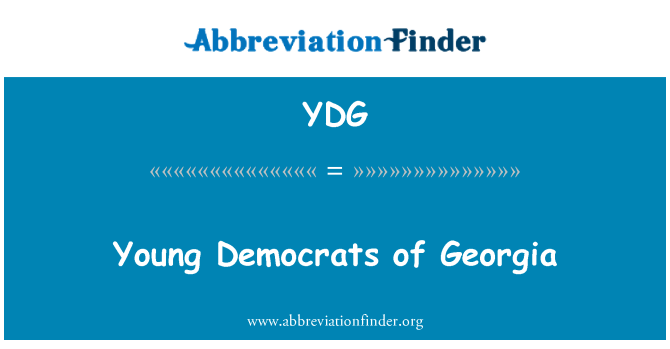 YDG: Young Democrats of Georgia