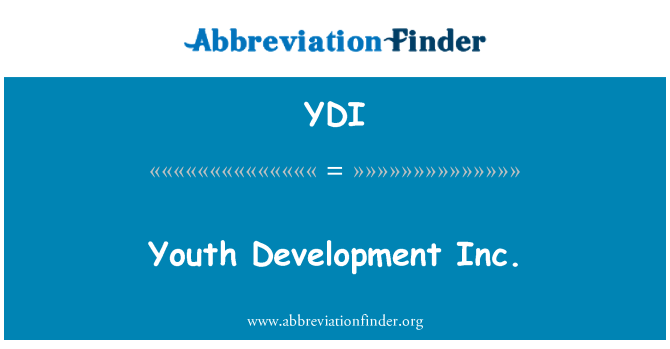 YDI: Youth Development Inc.