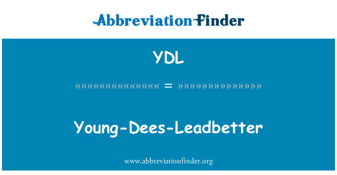 YDL: Young-Dees-Leadbetter