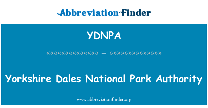 YDNPA: Yorkshire Dales National Park Authority
