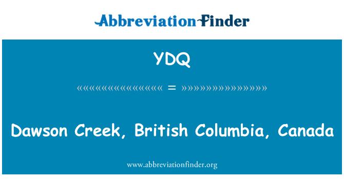YDQ: 加拿大不列颠哥伦比亚省道森克里克