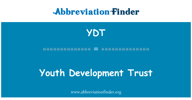 YDT: Youth Development Trust