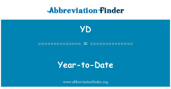 YD: 今年迄今为止