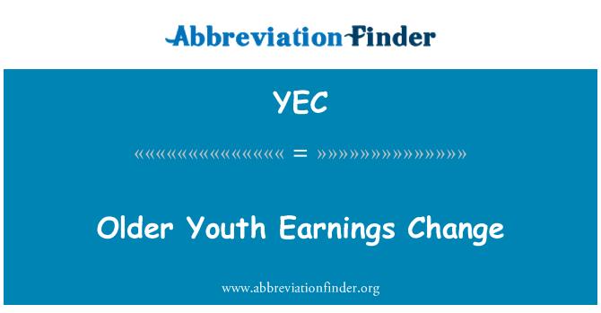 YEC: Older Youth Earnings Change
