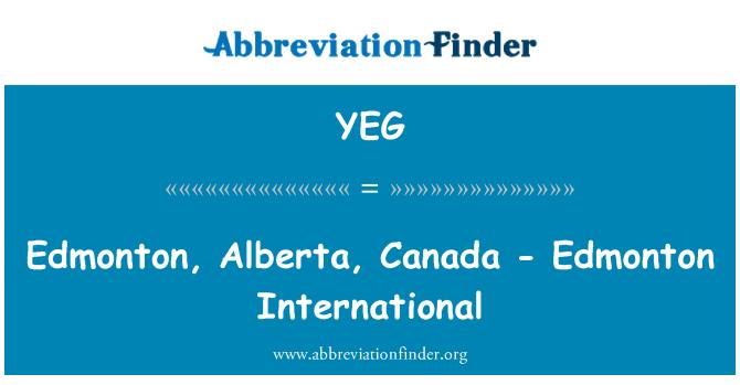 YEG: Edmonton, Alberta, Canada - Edmonton International