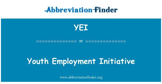 YEI: Youth Employment Initiative