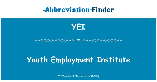 YEI: Youth Employment Institute