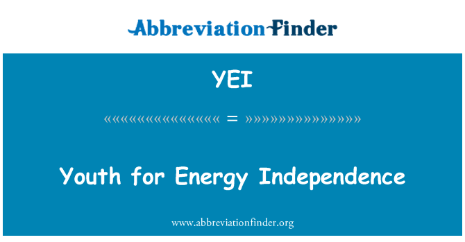YEI: Youth for Energy Independence