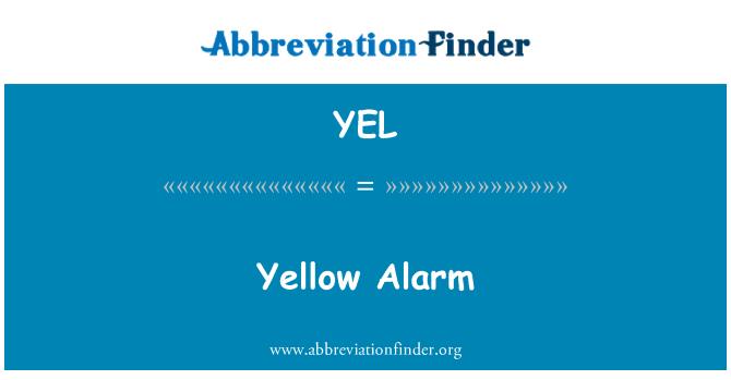 YEL: 黄色报警