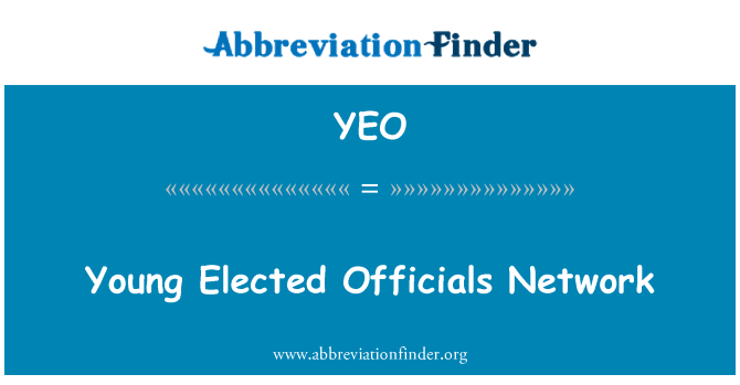 YEO: Young Elected Officials Network